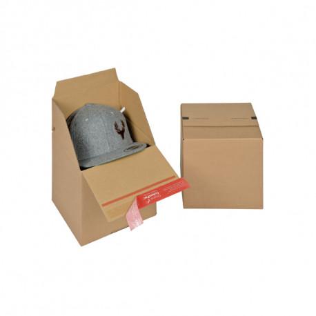Caisse américain Hauteur varibale / Fond auto Simple cannelure 194 x 194 x 187 mm