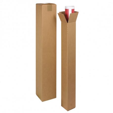 Tube d'expédition carton carré 100 x 100 x 1200 mm