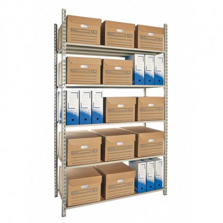 Boîte archives blanc/bleu 240 x 320 x 100 mm