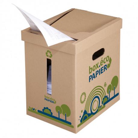 Collecteur box éco papier 320 x 238  x 352 mm