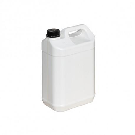 Bidon plastique blanc homologué UN 5L 186mm x 127mm x 290mm