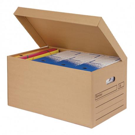 Caisse de regrouppement boites archives fond auto - 520 x 350 x 260 mm