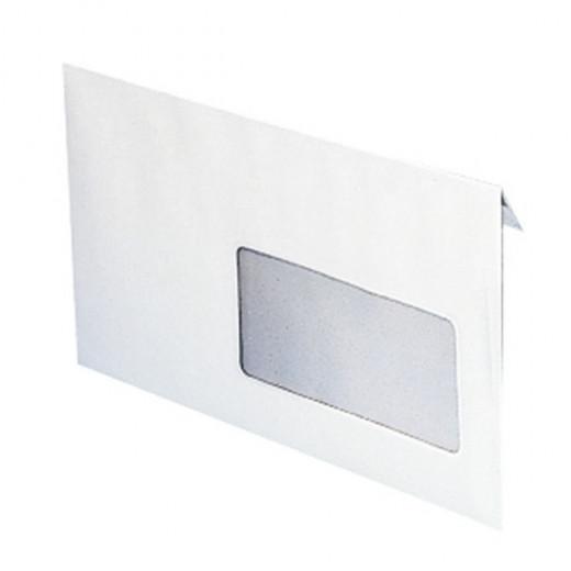 Enveloppe blanche standard 80g avec fenêtre 110 x 220 mm