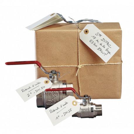 Etiquettes d'identification avec fil 100mm x 51mm