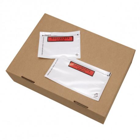 Pochettes porte-documents imprimées - RENFORCEES 116 mm x 110 mm