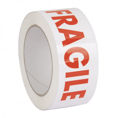 Ruban Adhésif PP Acrylique impression Fragile 50mm x 100m x 28µ