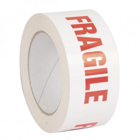 Ruban Adhésif PVC impression Fragile 50mm x 100m x 32µ
