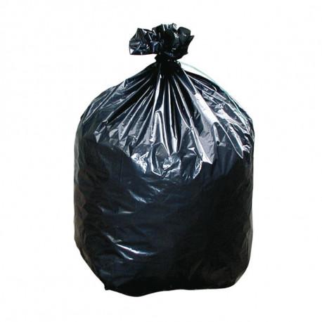 Sacs poubelle plastique noir 35 micron - 50 litres