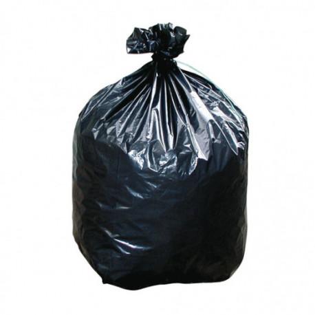 Sacs poubelle plastique noir 45 microns - 100 litres