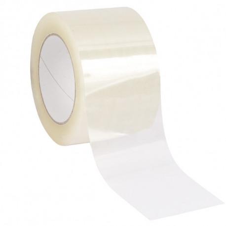 Ruban adhésif PP Acrylique renforcé POLY-FORT - Transparent - 75 mm x 100 m x 35µ - Lot de 6