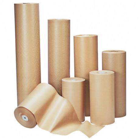 Papier kraft brun en rouleau 90g/m² 120cm x 250m