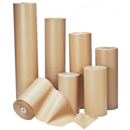 Papier kraft brun en rouleau 90g/m² 120cm x 2500m