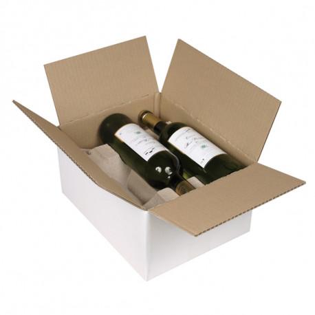 Caisses bouteilles Simple cannelure 305 x 240 x 154 mm