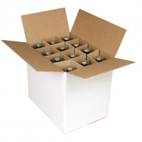 Caisses bouteilles Simple cannelure 336 x 247 x 306 mm