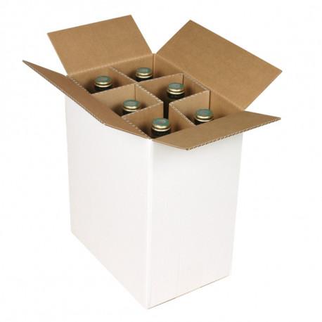 Caisses bouteilles Simple cannelure 247 x 168 x 306 mm