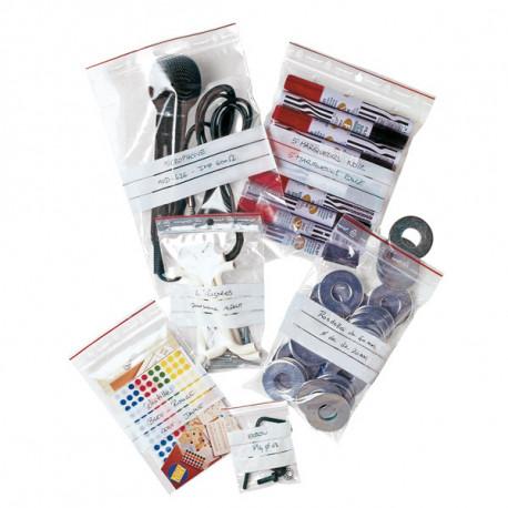Sachet plastique MINIGRIP à bandes 40 mm x 60 mm - 60µ