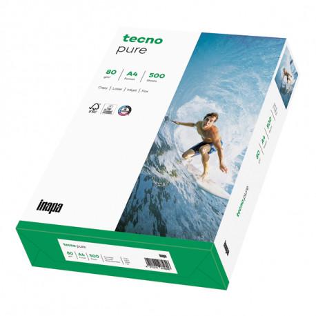 RAMETTE 500 FEUILLES A4 TECNO PURE 80G BLANC 21x29.7cm